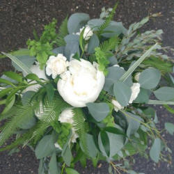 white green wedding